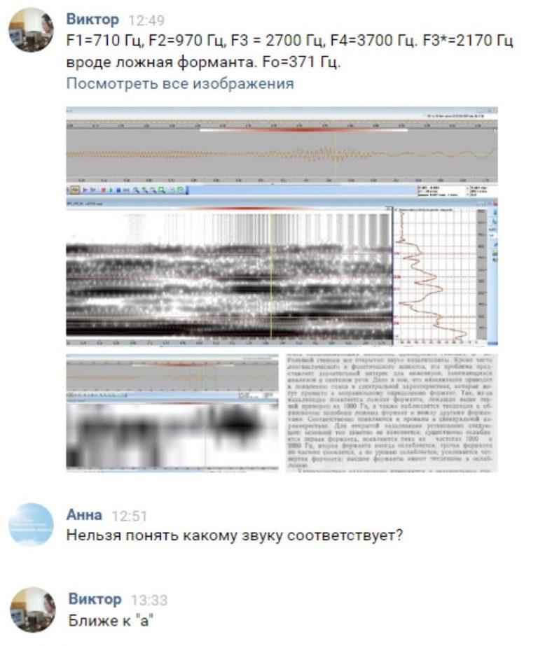 Спектрограмма звука А